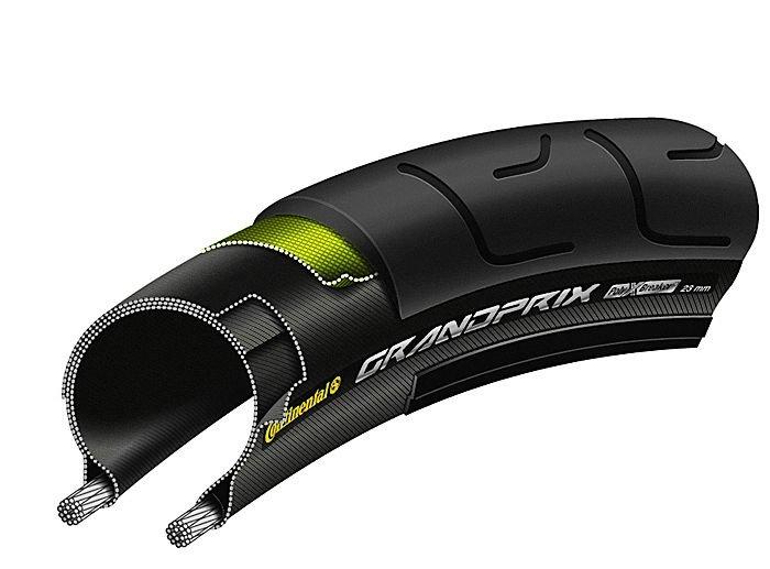 Continental BlackChili Compound - PolyX Breaker - Copertone pieghevole - 28 pollici Grand Prix (23-622) nero nero