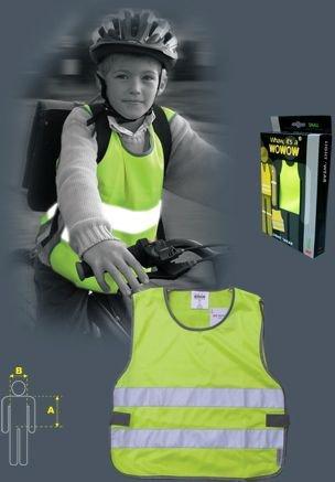 Gilet per bambini Tip Top reflex 6-9 anni giallo