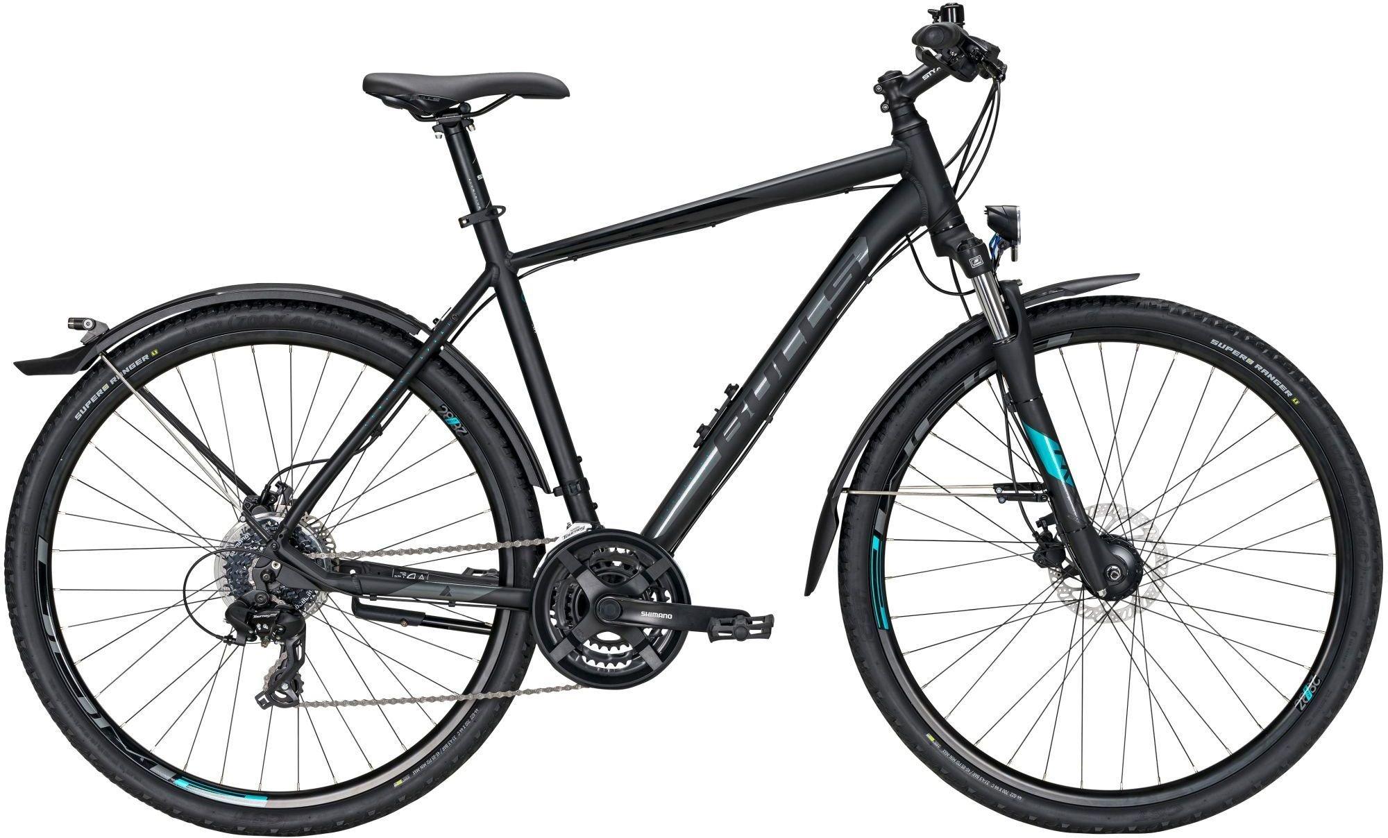 bici da uomo BULLS Cross Bike Street cambio a 24 velocità nero opaco