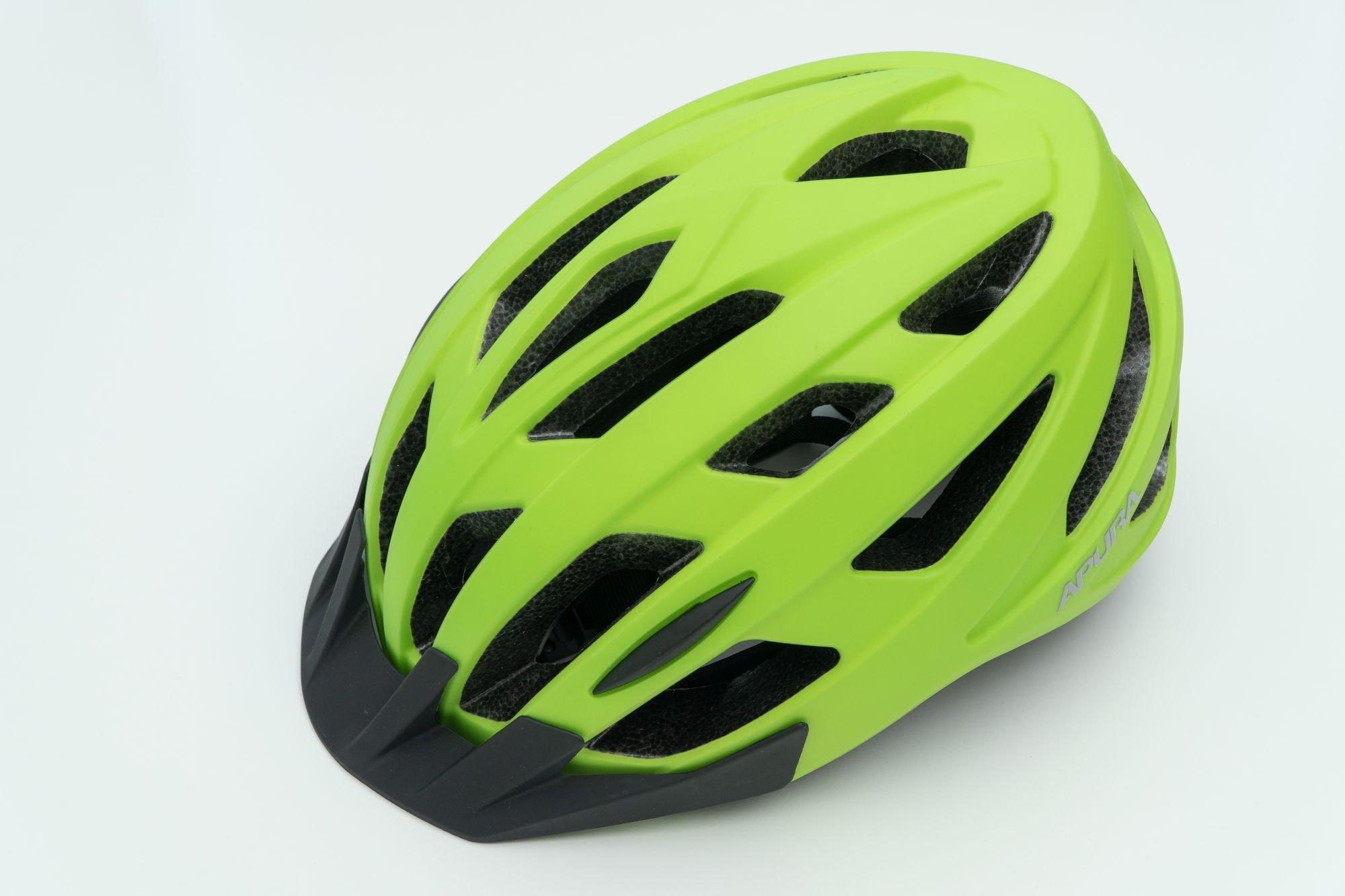 Casco da bicicletta Apura Kingston 54-58 cm lime opaco