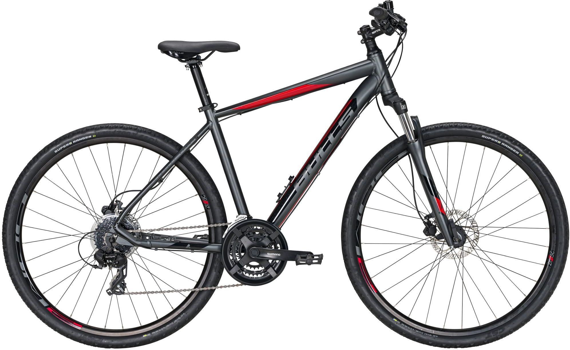 bici da uomo BULLS Crossbike 1 cambio a 24 marce grigio opaco