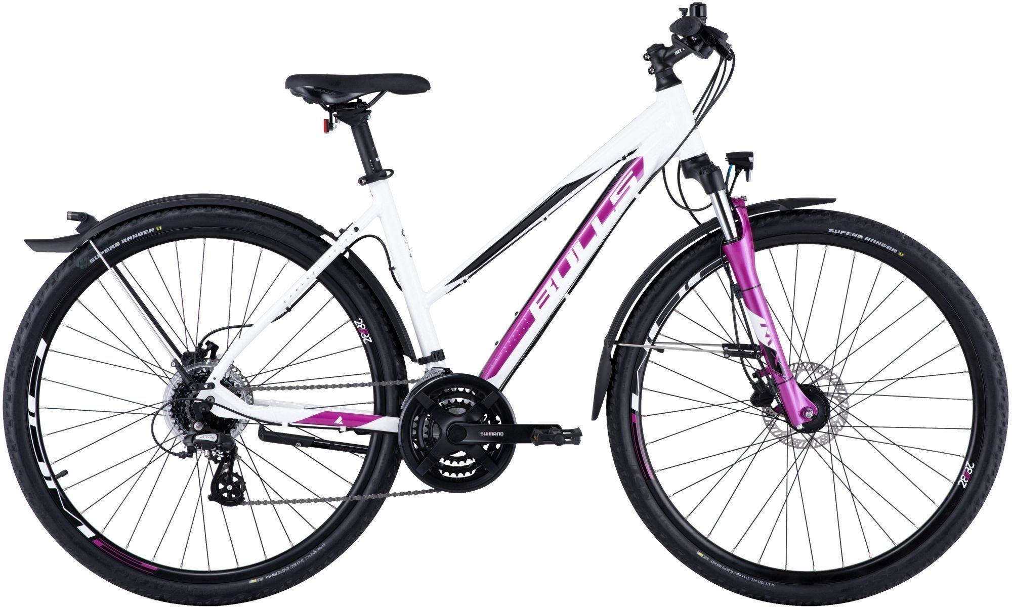 bici da donna BULLS Cross Bike Street cambio 24 velocità bianco sporco metallizzato