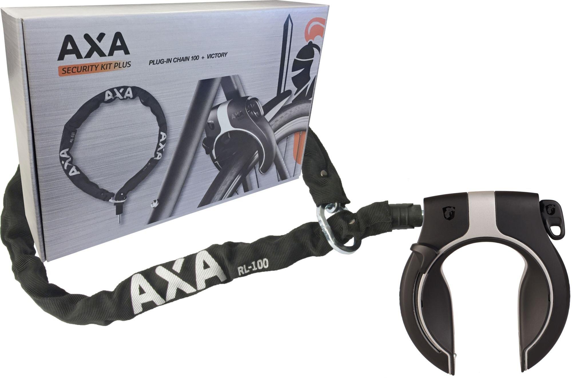Image of Antifurto da telaio AXA Victory con catena 100 cm nero