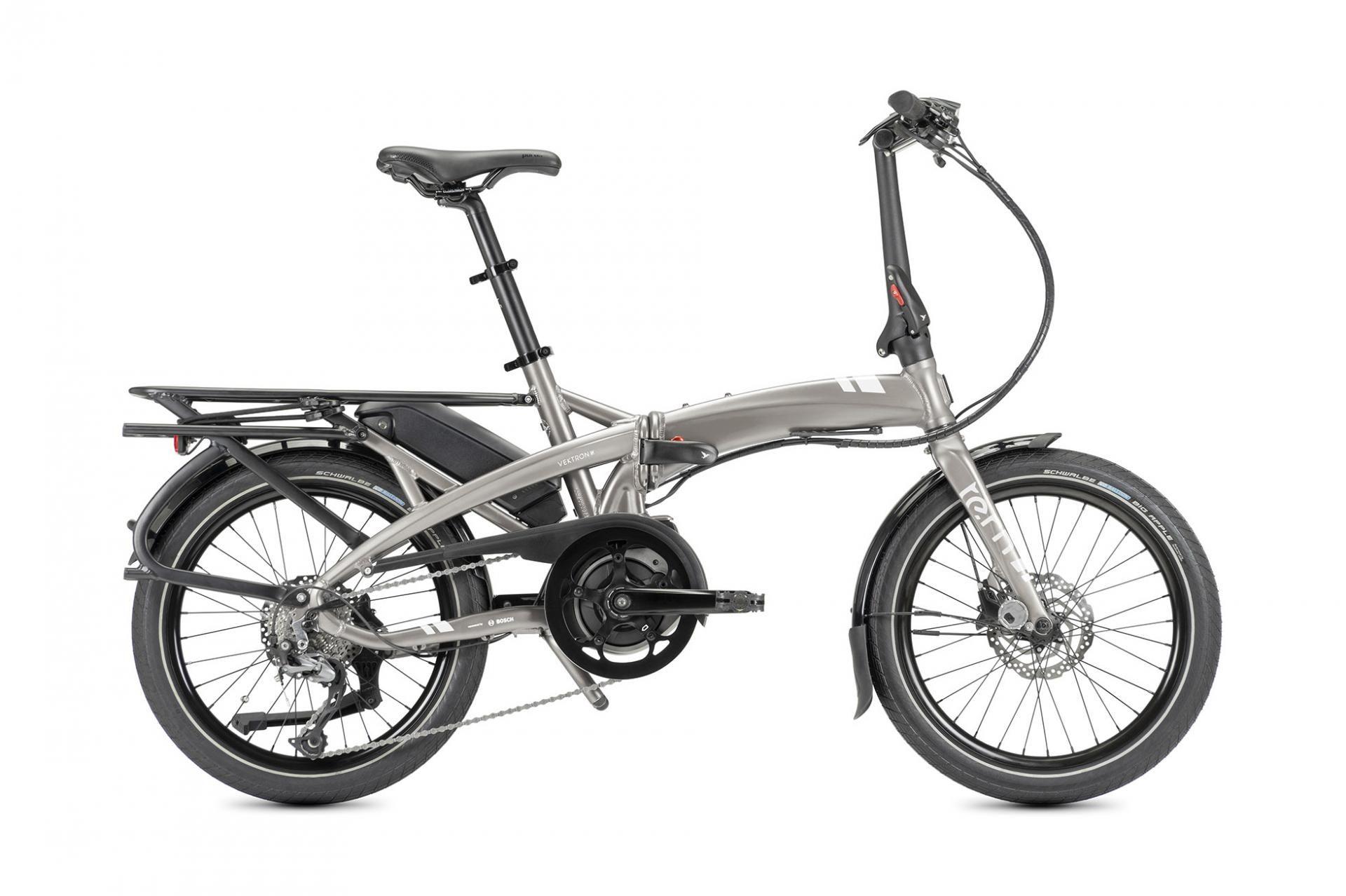Tern Vektorron Q9, cambio a 9 velocità, unisex, telaio pieghevole, modello 2021, 20 pollici 40 cm argento metallizzato satinato